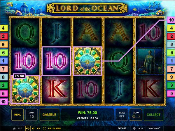 Игровой аппарат Lord of the Ocean - завоюй сокровища Посейдона в казино Х