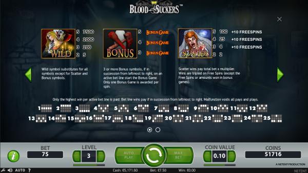 Игровой автомат Blood Suckers - играй в слоте без регистрации в суперслотс казино