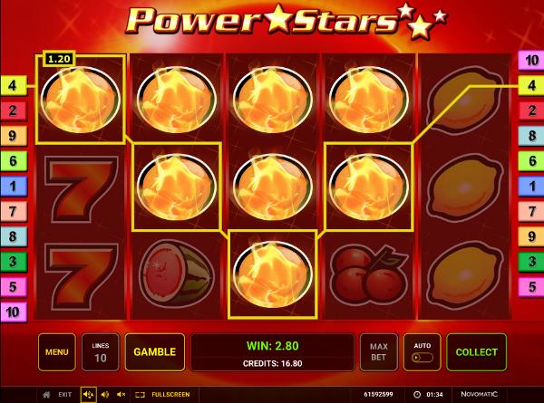 Игровой автомат Power Stars - потомок первых слотов казино Вулкан