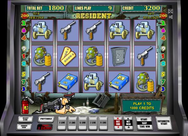 Игровой автомат Resident - немалые выигрыши ждут игроков в казино Вулкан 24